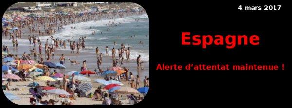 Espagne 2017 : Daech vise des lieux touristiques …