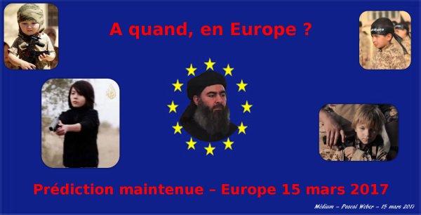 « Prédiction maintenue » – Europe 15 mars 2017