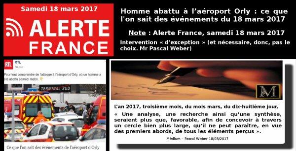 Alerte France (18/03/2017)