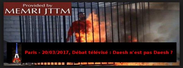 Paris, Débat télévisé, étonnante prise de position face à l'Etat de Criminels de Guerre, Daesh !