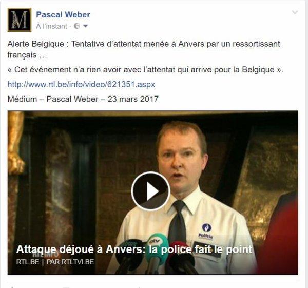 Alerte Belgique : Tentative d'attentat menée à Anvers par un ressortissant français …