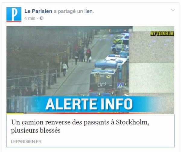 Stockholm : Un camion renverse des passants, plusieurs blessés ...
