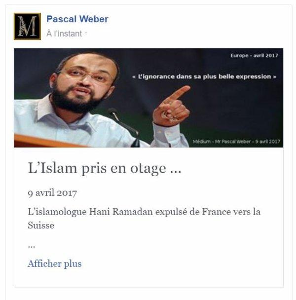 L'Islam pris en otage …