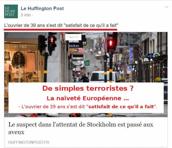 La naïveté Européenne …