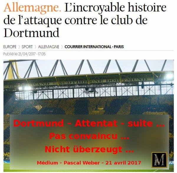 Dortmund – Attentat - suite …