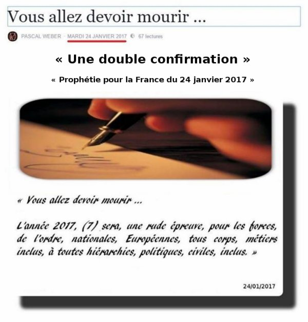 Une double confirmation ...
