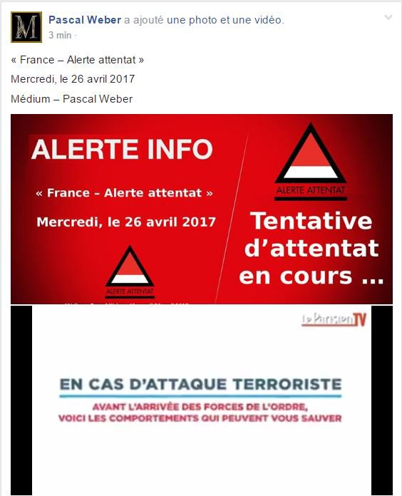 Mercredi, le 26 avril 2017 ...