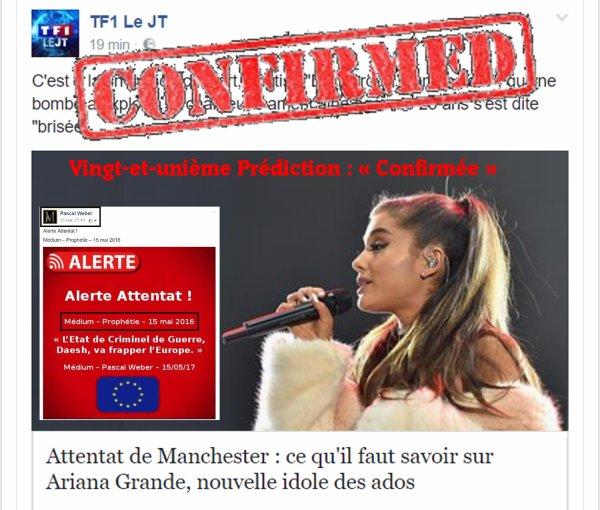 – 23 mais 2017 –  Vingt-et-unième Prédiction : « Confirmée »  ...