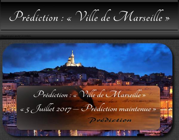 Prédiction : « Ville de Marseille »