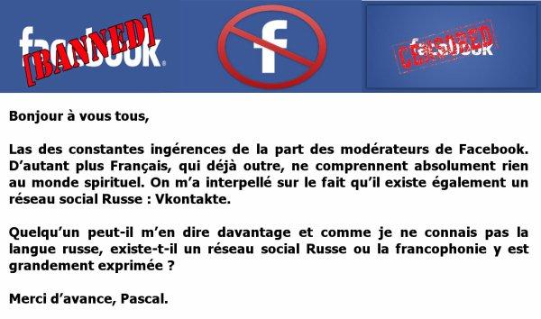Las des constantes ingérences de la part des modérateurs de Facebook...