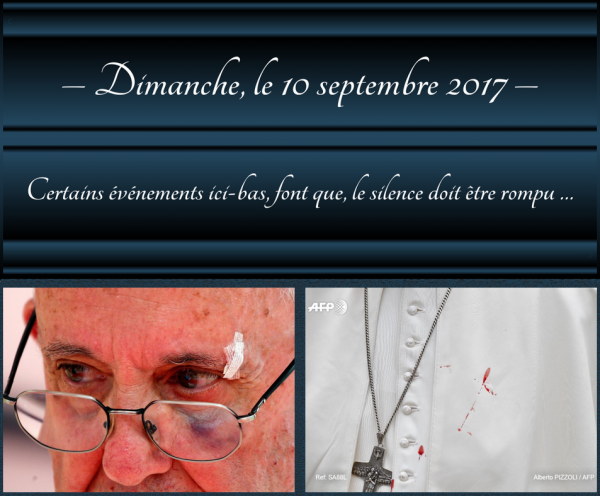 12 septembre 2017 – Suite : Les signes précurseurs …