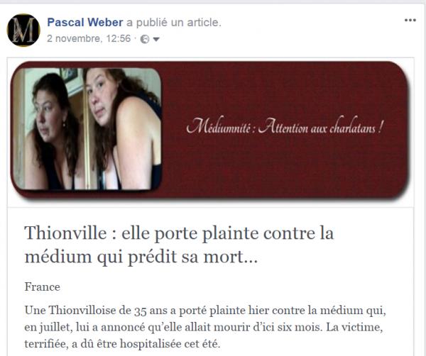 Thionville : elle porte plainte contre la médium qui prédit sa mort…