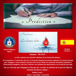 La CIA a prévenu les autorités catalanes d'une éventuelle attaque...