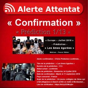 Alerte confirmation : 37ème Prédiction confirmée…
