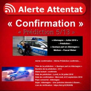 Alerte confirmation : 38ème Prédiction confirmée…