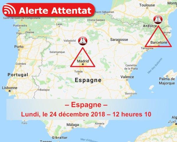 – Espagne – Lundi, le 24 décembre 2018 – 12 heures 10