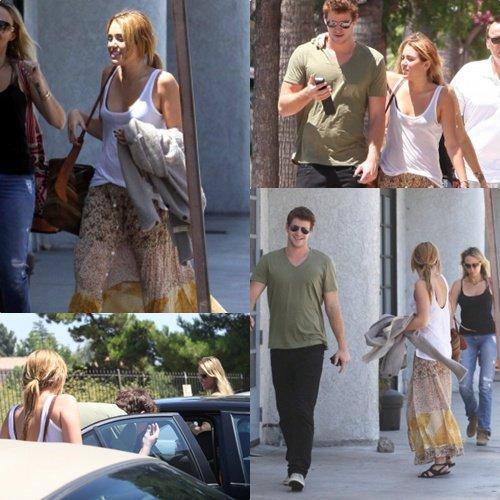 Miley va déjeuner avec sa mère et Liam . Pour moi c'est un Flop et toi ?