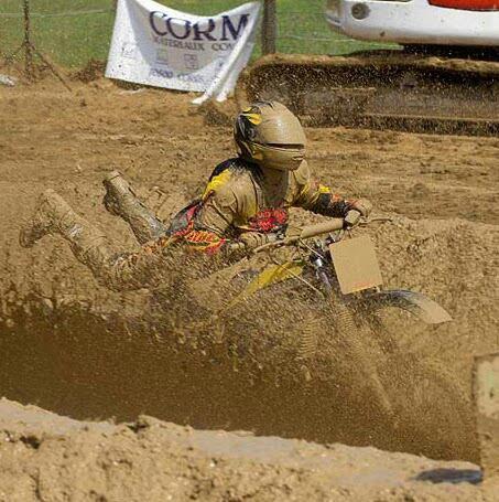 Ma pation course dans la boue