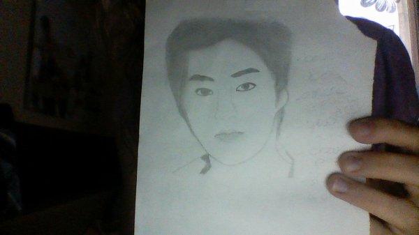 1er essai pour dessiner le visage de Xiu Min