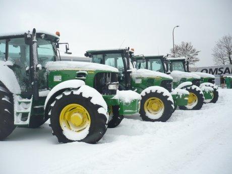 Petite sortie chez le concessionnaire sous la neige !
