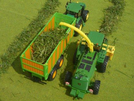Mini Diorama d'ensilage d'herbe