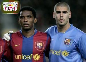 FC Barcelone: Samuel Eto'o soutient Valdès