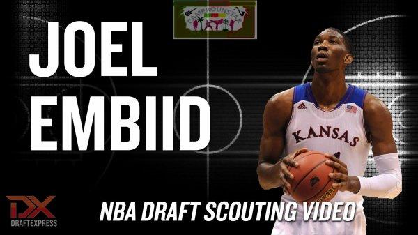 le Camerounais Joël Embiid se présente à la draft NBA 2014