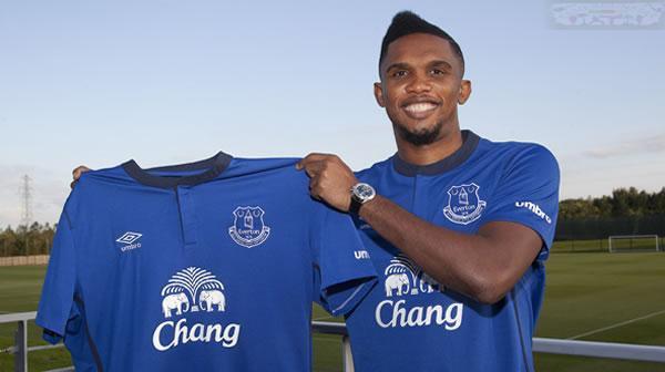Everton: Le n°5 pour Eto'o