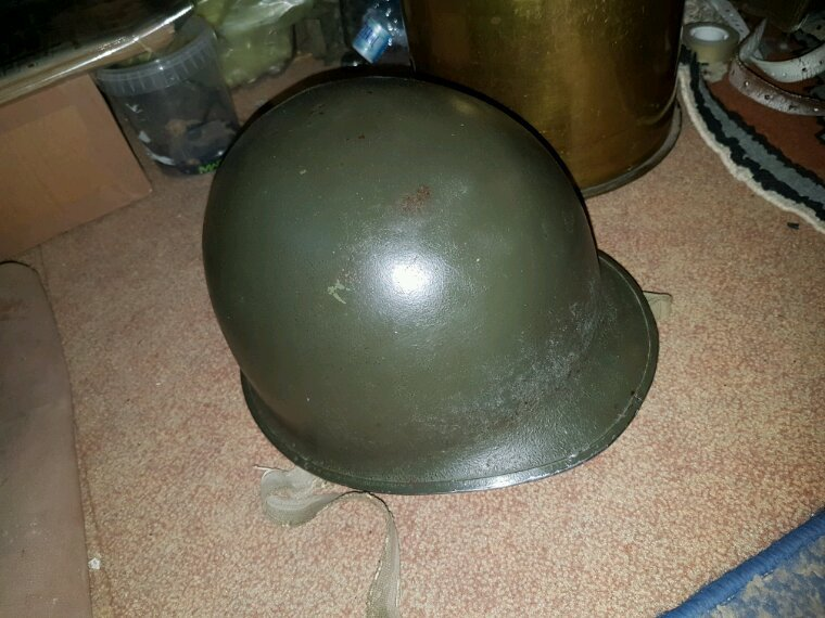 "Casque us m1 officier ""matricule commençant par 0"""