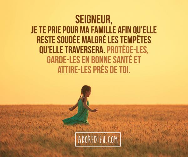Semaine de l'enfance et de la famille, prions pour chacun des membres de notre famille (l)