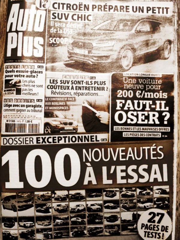 Auto plus n°1415 du vendredi 16 octobre 2015
