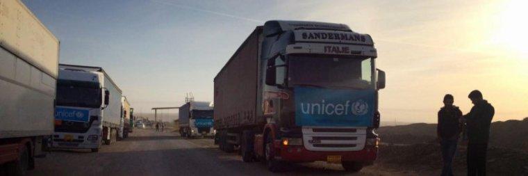 Irak : Premier convoi humanitaire dans la ville de Mossoul