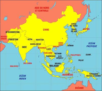 Carte Geo De Lasie.Carte Geographique De L Asie Asiemusic
