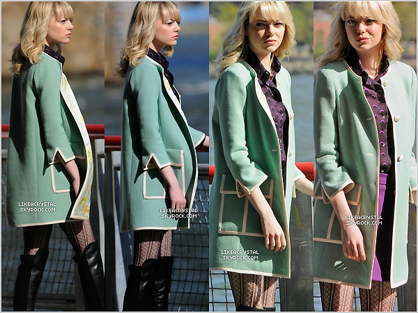 05/05/13 : Emma Stone a été aperçue sur le tournage du film « The Amazing Spider Man 2 » à New York ! TOP