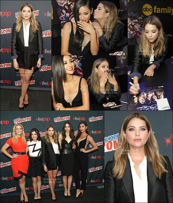 09/10/15 : Ashley, accompagnée du casting de PLL, était présente au Comic Con 2015 de NY, pour la promo de la série.