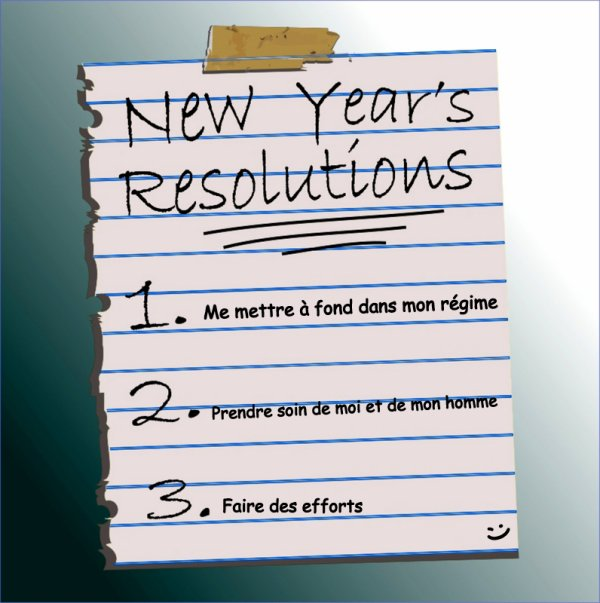 Mes résolutions pour l'année 2013