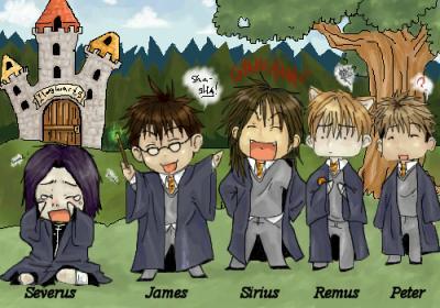 Severus et les maraudeurs chibi 39 s harry potter - Harry potter et les portes du temps bande annonce ...