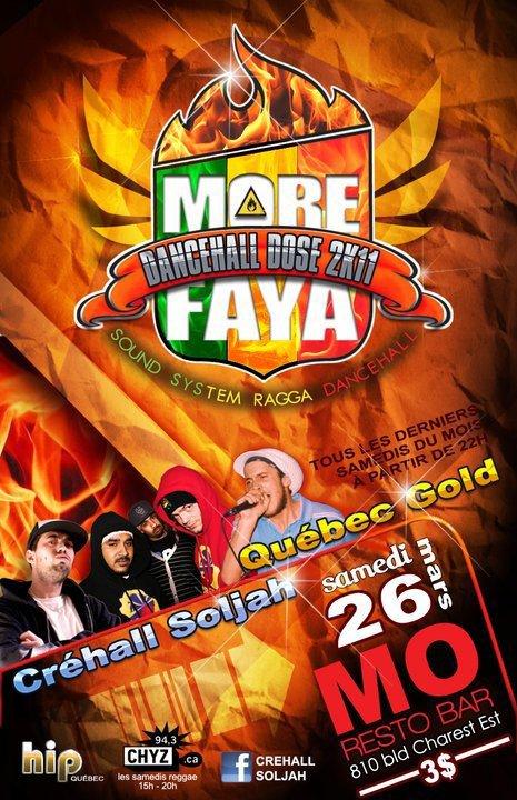 26/03/11 - MORE FAYA CHEZ MO - DANCEHALL DOSE 2K11