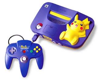 Objet collector : La nintendo 64 Pikachu