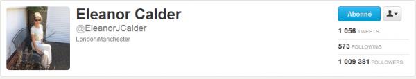 27/07/2012 - Eleanor a dépassé les 1 million de followers!