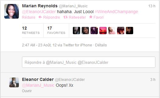 23/08/2012 - Hier Eleanor à passé la soirée avec son amie Marian Reynolds