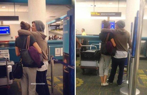 15/09/2012 - Louis et Eleanor était à l'aéroport de Miami hier