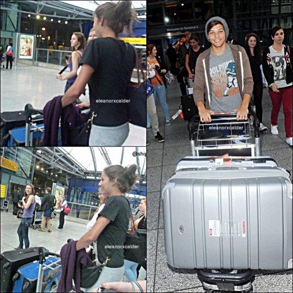 14/09/2012 - El et Louis à l'aéroport d'Heathrow