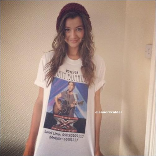Eleanor encourage Adam, un candidat d'X-Factor