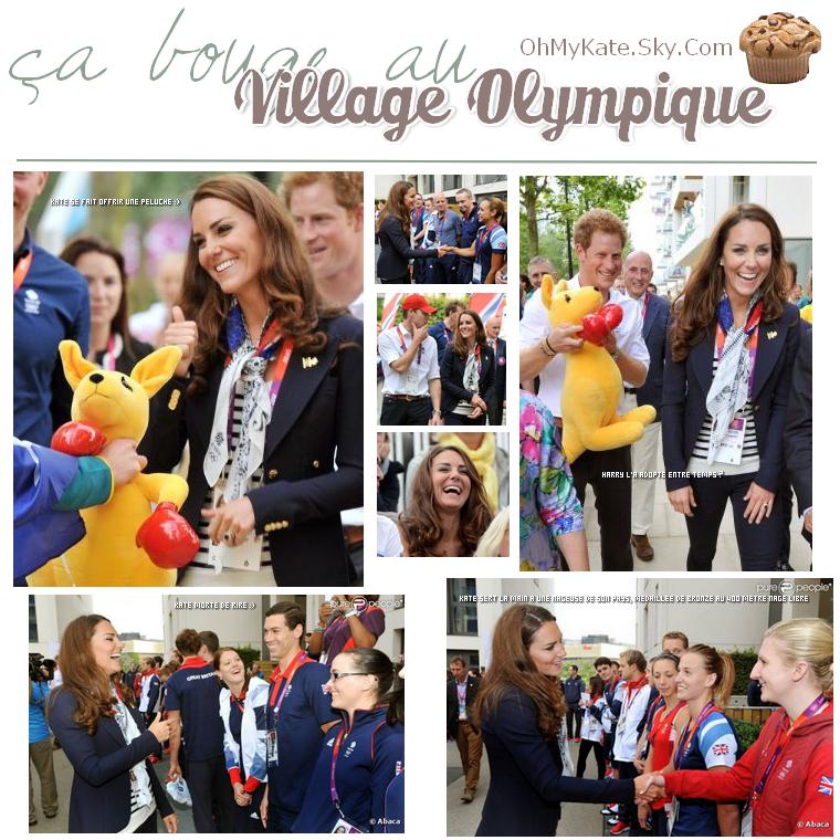 Kate au village olympique :)