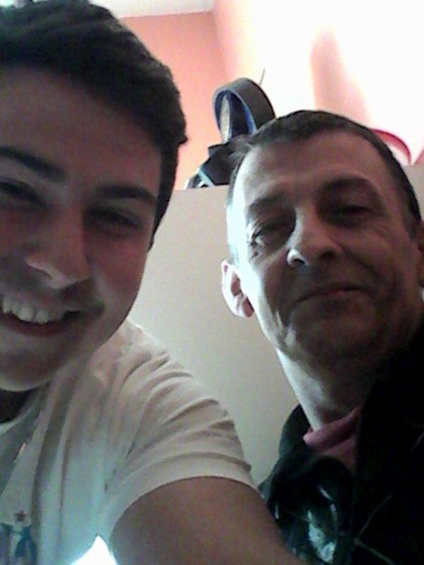 Mon fils Jordan avec moi