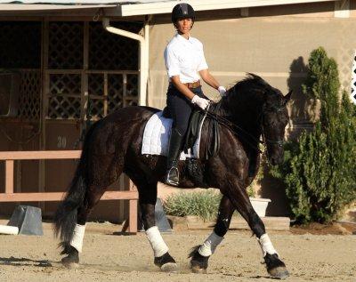 Lele qui fait du cheval à LA <3