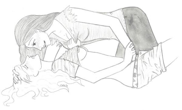 Dessins du couple : Brittana   ps :désolé pour les dessins un peu ou trop HOT sur le couple !