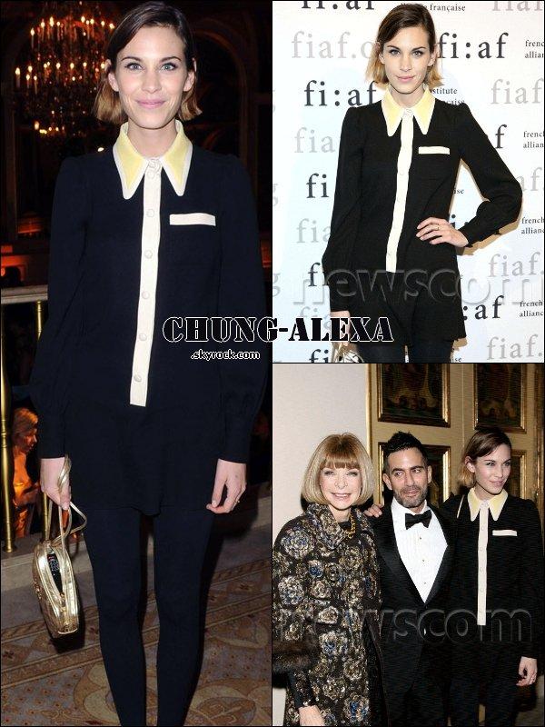 """Alexa à l'annuel gala """"Trophée des Arts"""" à l'hôtel Plaza, le 9 décembre à New-York."""