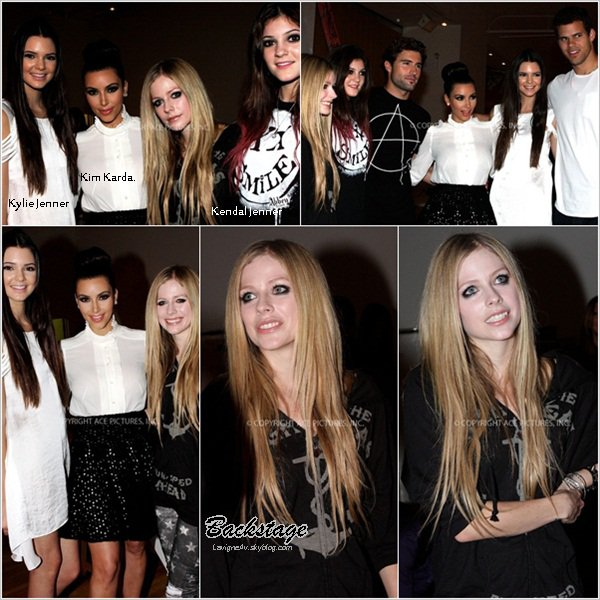 12 septembre:  Avril était à la Fashion Week de New York pour présenter sa collection, Abbey Dawn.